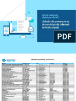 Proveedores de internet por provincia CABASE