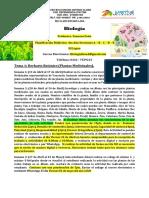Biología planificacion semanal 4to año