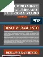 DESLUMBRAMIENTO EN ALUMBRADO EXTERIOR Y  VIARIO