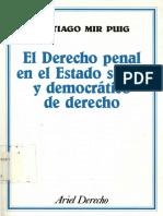 El Derecho penal en el Estado social y democrático de Derecho - Santiago ir Puig (1994).pdf