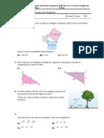 questão de aula teorema de Pitágoras