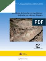Catálogo de los efectos geológicos de los terremotos en España - en línea