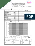 009 -  REGISTRO DE ENSAYO DEL PROCTOR ESTANDAR ASTM D 698