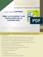 LA FILOSOFIA Y LOS POTULADOS DE LA CONTAB