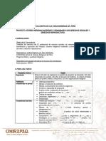 Convocatoria Responsable de Proyecto CHIRAPAQ PPG 2020 Ampliación