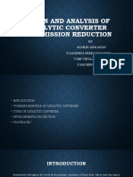 DESIGN AND ANALYSIS OF CATALYTIC CONVERTER FOR EMISSION.pptx