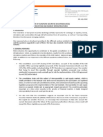 Response of the Federation of European Securities Exchanges (FESE) Public Consultation on Derivatives and Market Infrastructures