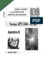 Teoría API 1104 - IAS - Cont. Doc. (II-Apéndice B) - Año 2012