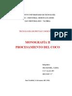 PROCESAMIENTO DEL COCO