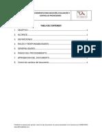 GCP-PR-01 Procedimiento seleccion, evaluacion y control proveedor