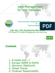 E Waste Management in EU Germany by Henning Schreiber (VDI)