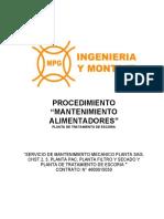PROC-5030-MEC-PTE-21 MANTENIMIENTO ALIMENTADORES