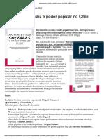 Movimentos sociais e poder popular no Chile. GESP (coord.)