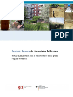 Revisión Técnica de Humedales Artificiales. de flujo subsuperficial para el tratamiento de aguas grises y aguas domésticas