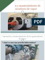 Operación y mantenimiento de los generadores de vapor