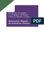 Optometría Manual de exámenes clínicos