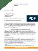 Americans for Financial Reform FX Swaps Comment Letter