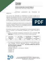 1- INFORME DE AVANCES DEL PLAN DE TRABAJO