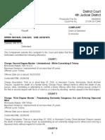 George Floyd MPD Criminal Complaints