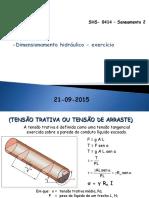Aula6 - 21-09-2015 - exercício de  dimensionamento de rede coletaora de esgoto