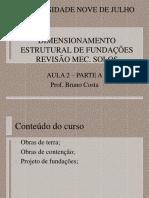 AULA 2A- DIMENSIONAMENTO ESTRUTURAL DE FUND