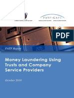 Money Laundering Using Trust and Company Service Providers