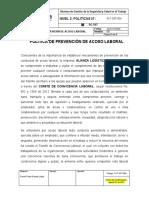 PLT-SST-004 Política de Prevención de Acoso Laboral.docx
