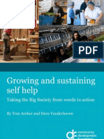 FINAL Growing and Sustaining Self Help, Taking the Big Society From Words to Action - T Archer and D Vanderhoven - 18.10.10 (for Print)