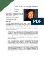 8. La gran crisis de la reforma protestante