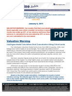 ValuEngine Model Calculations Show Overvaluation Hitting Critical Levels