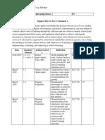 elcc standards and internship log