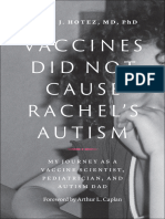 book  Vaccines Did Not Cause Rachel's Autism_ My Journey as a Vaccine Scientist, Pediatrician, and Autism (2018)