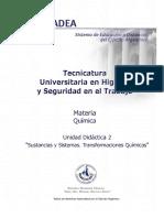 UD2-Sustancias y Sistemas - Transformaciones Químicas
