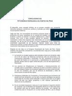 Conclusiones IV Cec