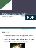 Materia y sus propiedades 5 Primaria