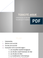 toxicité aigue 2018 ppt