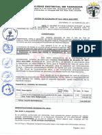 R.A. N°011-2011-MDT-ALC; APROBAR EL VALOR REFERENCIAL TOTAL POR EL MONTO DE 149,960.00 PARA LA ADQUISICIÓN DE INSUMOS PARA EL PROGRAMA DEL VASO DE LECHE 2011