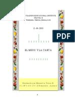 Trabajo el MENU y la CARTA - Manuel Pérez