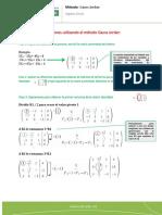 Ejemplo guía- método Gauss Jordan