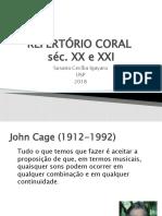 REPERTÓRIO CORAL sec XX e XXI 2018 M