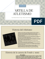 Cartilla de atletismo