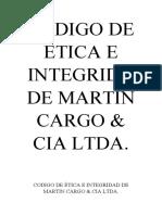 CODIGO DE ÉTICA E INTEGRIDADE MARTIN CARGO