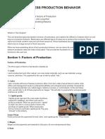Week 1, Module #2 - Business Production Behavior