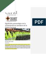 Significado polemológico de la victimización de miembros de la Policía Nacional