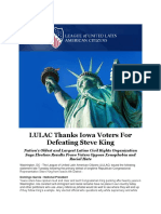 LULAC Thanks Iowa Voters for Defeating Steve King