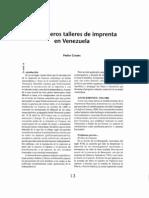 Pedro Grases, Los Primeros Talleres de Imprenta en Venezuela