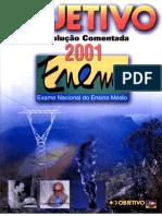 Enem2001 - Prova 03 - Branca - Resoluções Objetivo