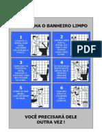 BANHEIRO MASC. Cartaz Placas