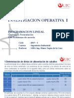 Unidad 1 Sem 3-1 - Formulación PL 06 Mezclas IO_1 20171 UPC PG