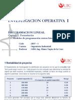 Unidad 1 Sem 3-2 - Formulación PL 09 Decisiones binarias IO_1 20171 UPC PG